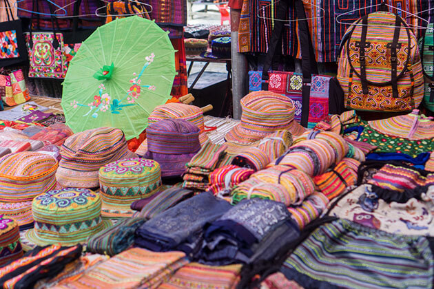 Bac Ha Market Fabrics in North Vietnam Tour