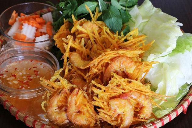 Banh Tom West Lake Hanoi Food