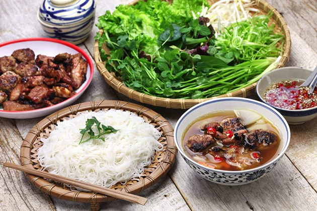 Bun Cha - a specialty of Hanoi