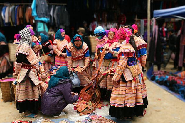 Bustling Bac Ha Market