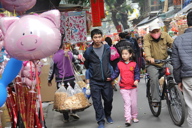 Hang Luoc Street before Tet Holiday