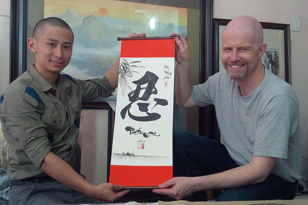 Calligraphy Class in day trips hanoi
