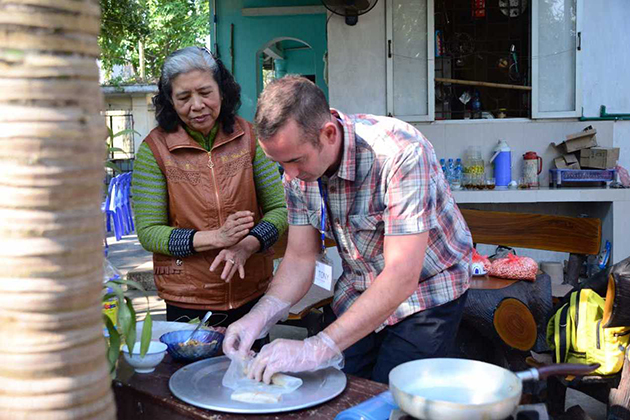 Cooking Demonstration in the Local Homehost Dong Ngac