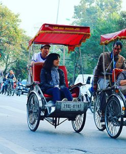 Cyclo around the old town of Hanoi
