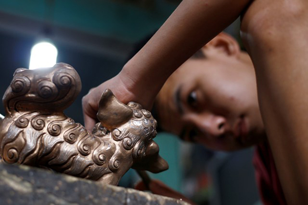 Dai Bai Bronze Casting Village Nowadays