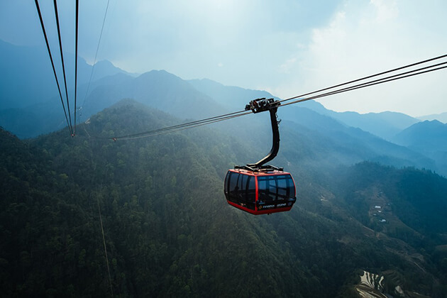 Go to Fansipan by Cable Car