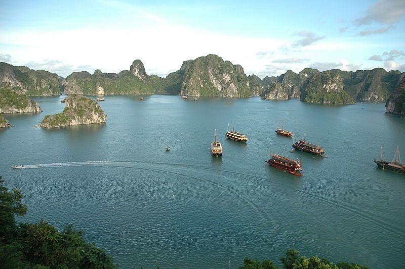 Halong Bay in North Vietnam