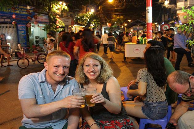 Hanoi Fresh Beer at Night