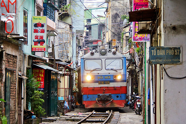 Hanoi train streets