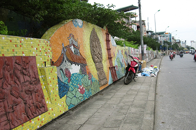 History Through Hanoi Ceramic Mosaic Mural