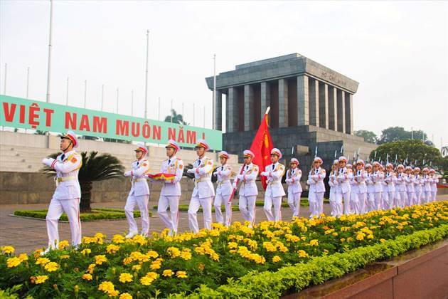 Ho Chi Minh Mausoleum in Ba Dinh Square