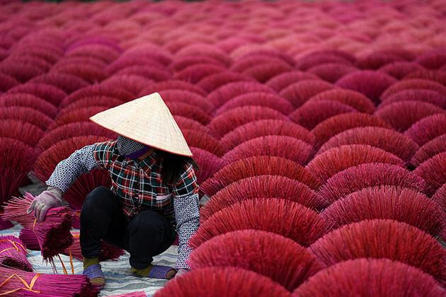 Incense Village in Hanoi Vietnam Tour