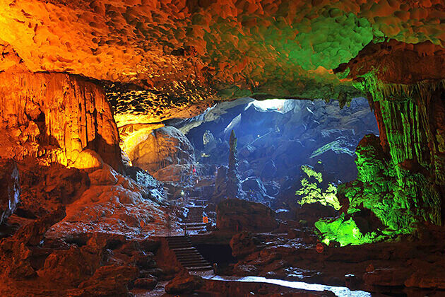 Majestic Cave in Halong Bay