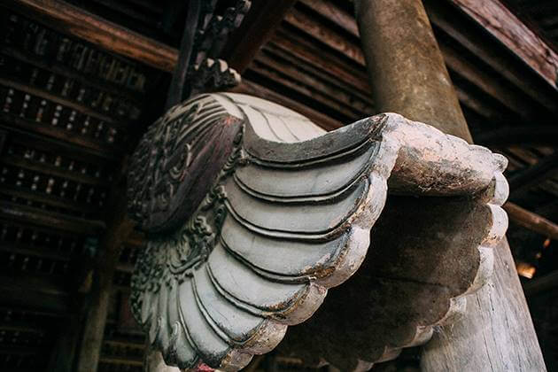 Old Stone & Wood Carvings in House Dong Ngac Village