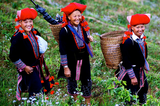 Red Dzao People Living in Sapa