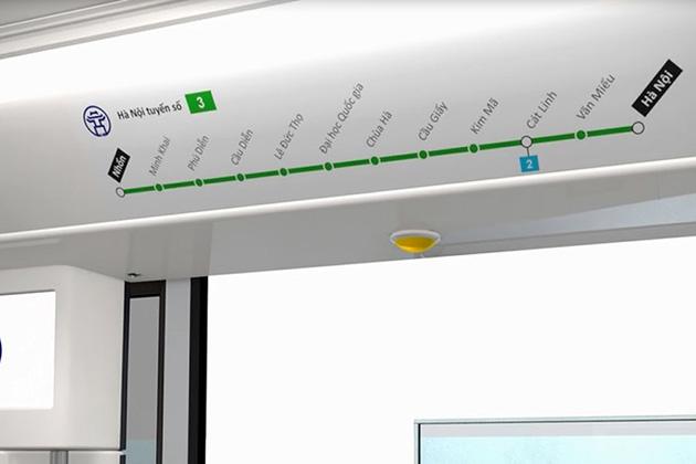 Hanoi Metro 3 Nhon Railway Route