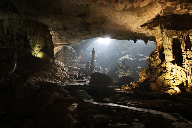 Sung Sot Cave in Halong Bay Tour From Hanoi