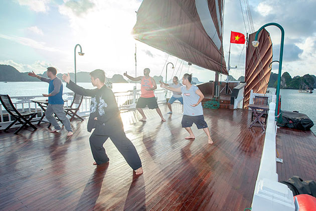 Tai Chi on Cruise Ship Halong Bay