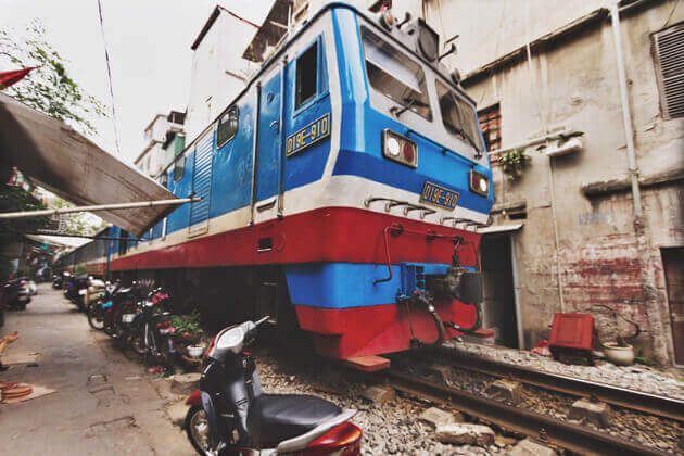 The Location of Hanoi Train Street