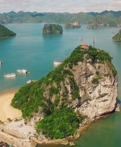 Majestic Titov Island in Halong Bay