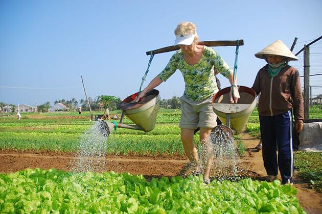 Tra Que farming vietnam tour