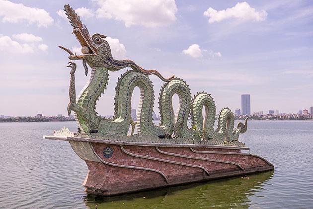 Beautiful West Lake in Hanoi