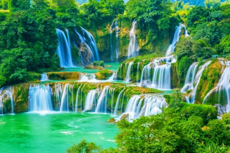 discover ban gioc waterfall in hanoi day trips