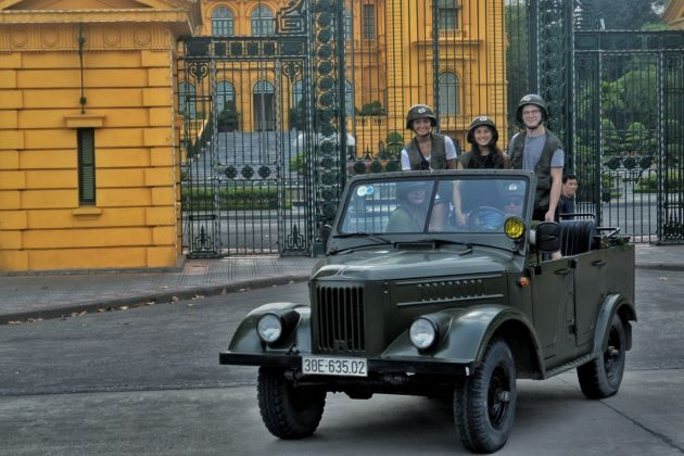 hanoi city tour by jeep