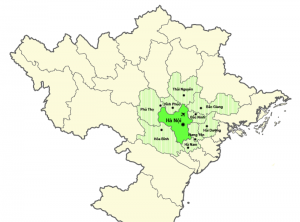 Hanoi District Map