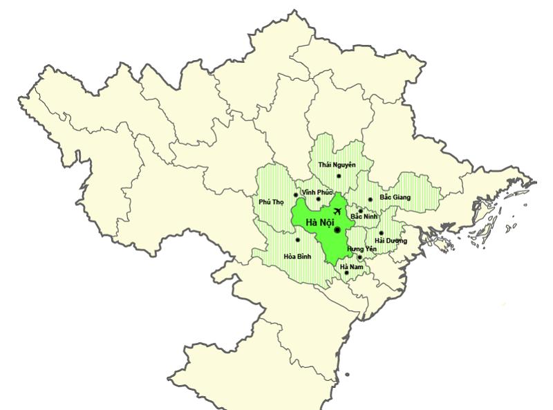 Hanoi District Map