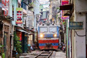 hanoi train street hanoi local tour