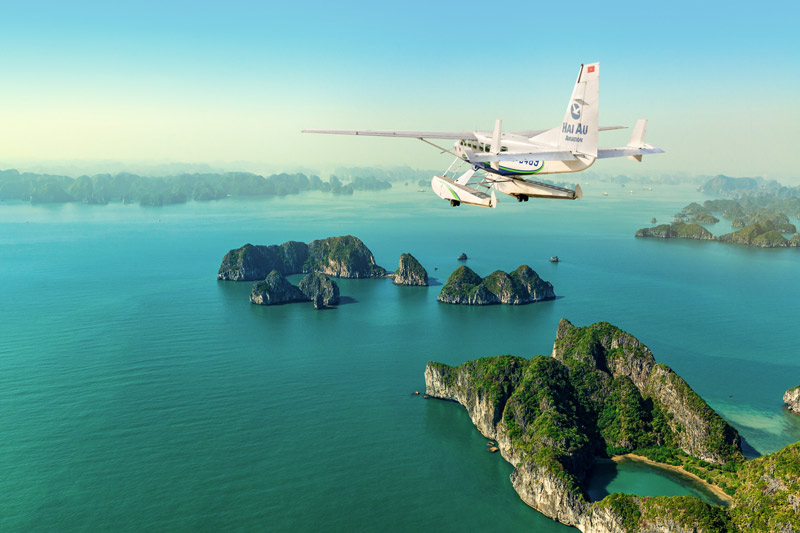 Seaplane from Hanoi to Halong Bay