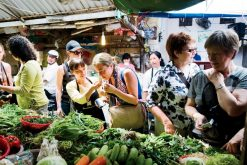 visit a market in tours from hanoi