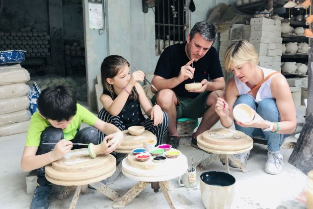 visit traditional village on trips from hanoi